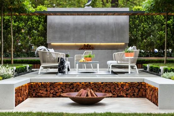 Snygg modern trädgård och terrassdesign av Nathan Burkett - DigsDi