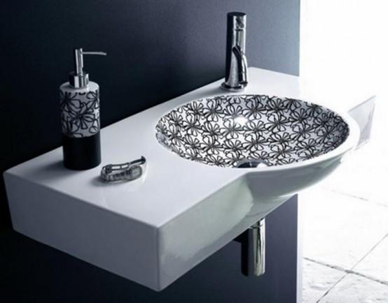 Snygg svartvitt tvättställssamling - DigsDi