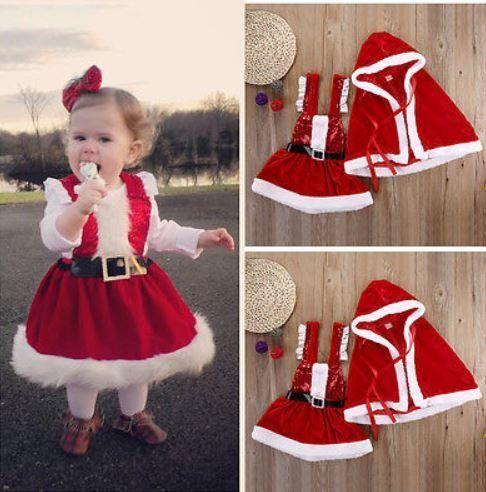 10 söta jultomtenkläder för babyflickor som ser vackra ut 2020.