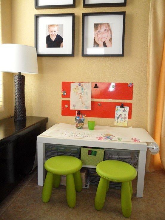 Söta Ikea Mammut avföring Idéer för barnrum |  Ikea barnrum.