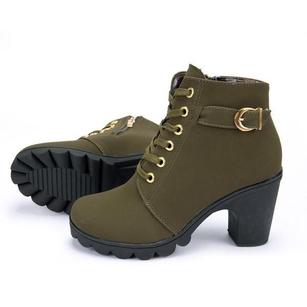 2019Martin Boots damskor med snörning Dam högklackade skor.