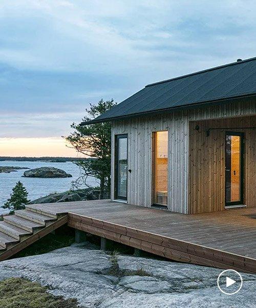 projekt ö är en serie självförsörjande stugor på en finska.