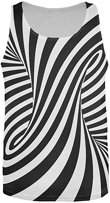 Amazon.com: Old Glory Trippy Black and White Swirl All Over Mens.