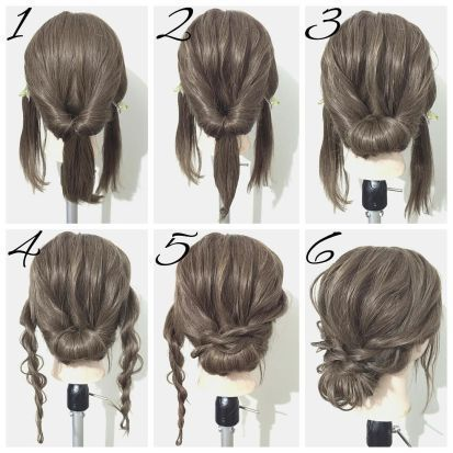 Easy Updos 9 Frisuren # Haare # Haarschneider # Flechten # Zöpfe.