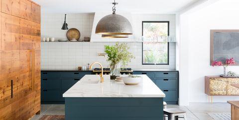 Tvåfärgade köksskåpidéer - Hur använder du två färger i köksstugan
