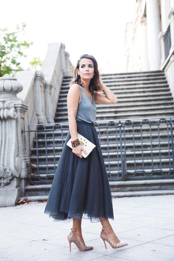 avslappnad bästa tyll kjol