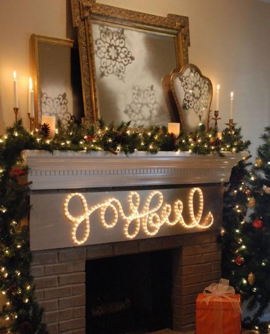 31 Underbara inomhusdekorationer med julbelysning - DigsDi