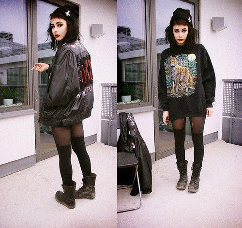 Hipster Goth Mode 051 |  Mode, Grunge mode, Goth fashi