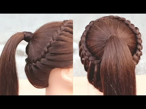 Vacker frisyr för collageflickor ||  Lätt flätad frisyr.