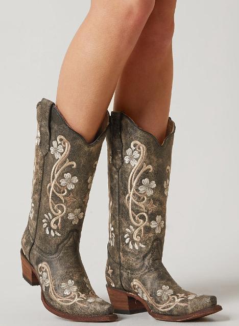 Corral Broderad Cowboy Boot - Damskor    Spänne    Läder.
