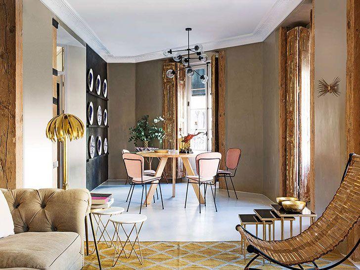 Modern lägenhet med vintage accenter i Madrid〛〛 Фото ◾Идеи.