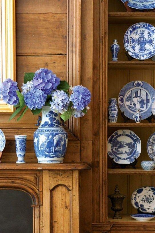 Prisvärda blå och vita heminredningsidéer bäst för våren 35.