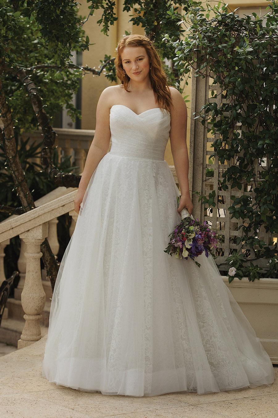 Anpassade bröllopsklänningar i större format