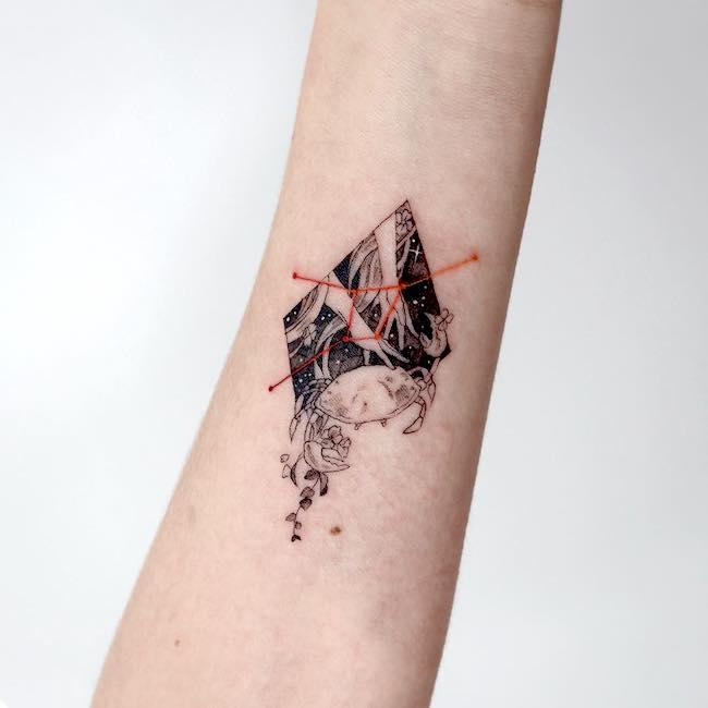 Bästa Cancer Zodiac Tattoo Designs