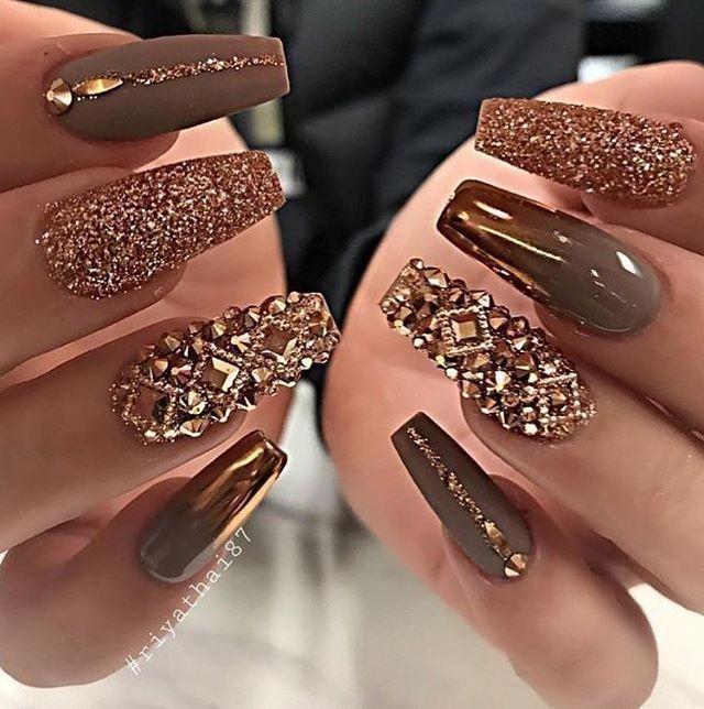 Bästa Glitter Nail Art Designs