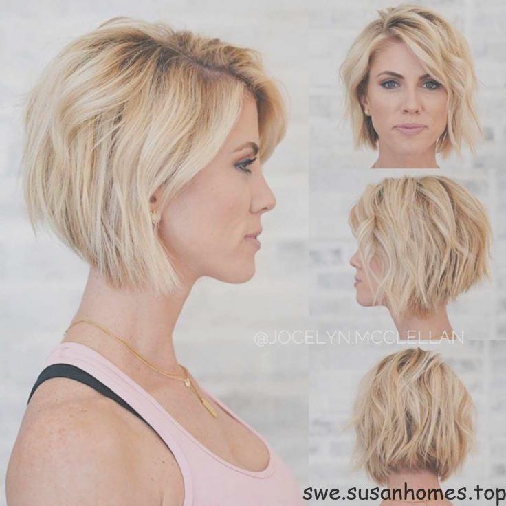 Bästa korta frisyrer för fint hår