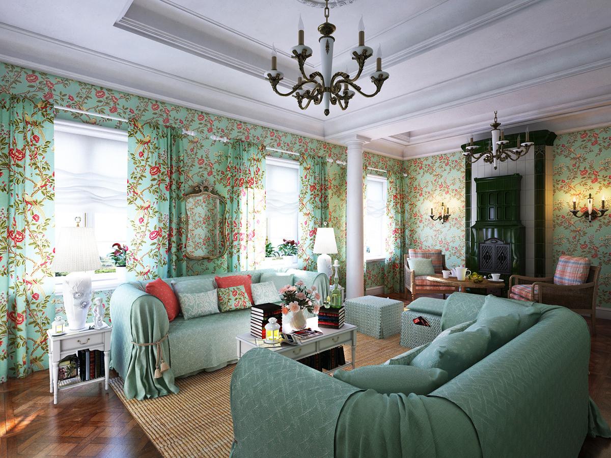 Bedårande och romantiska Provence vardagsrum