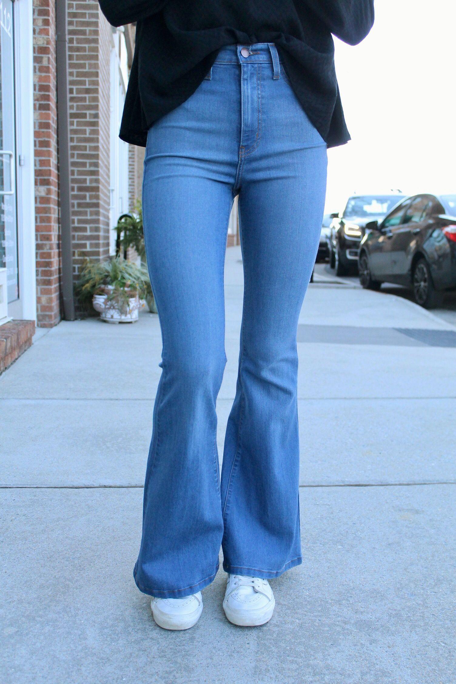 Bell Bottom Jeans för kvinnor
