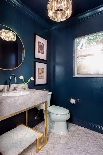 Blå badrumsidéer