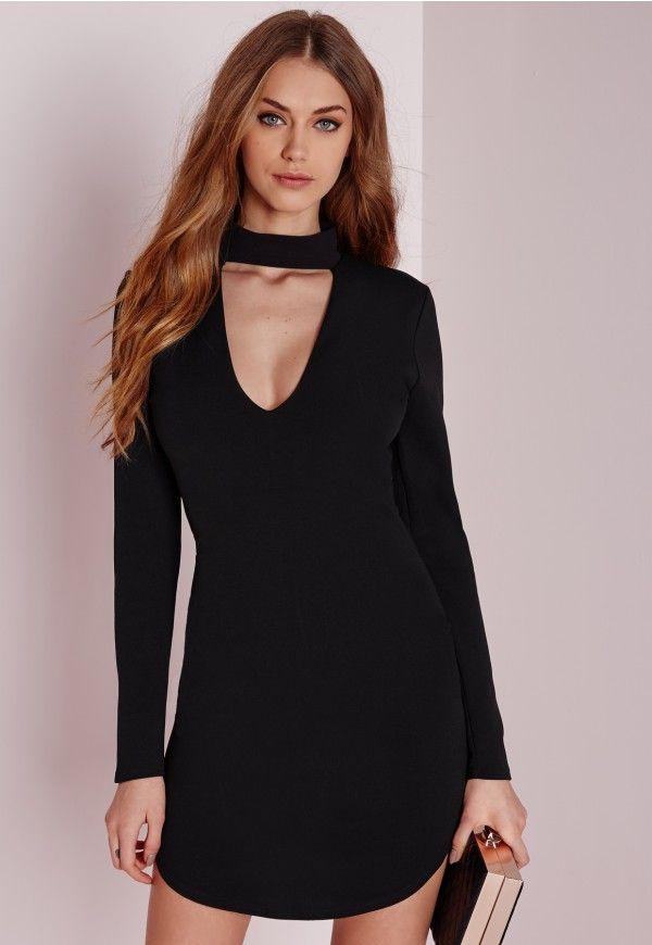 Black Choker Dress Idéer