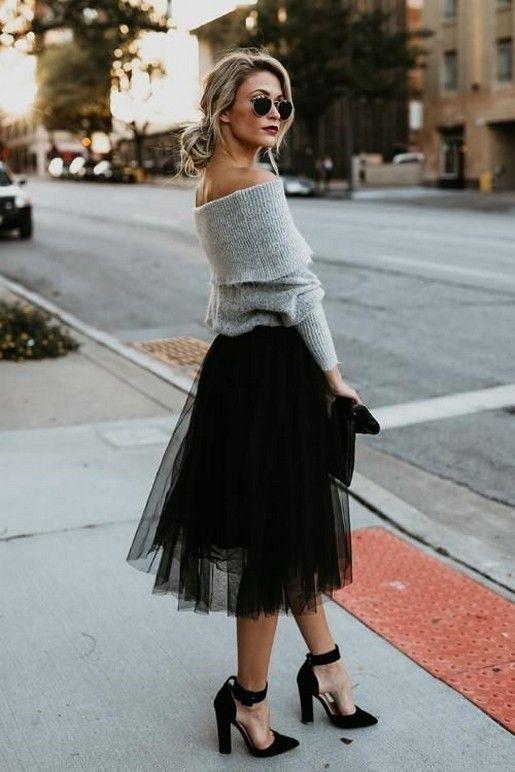 Black Tutu Kjol Outfit Idéer