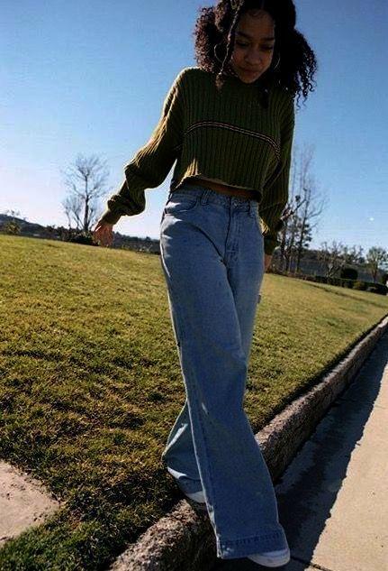 Capri Jeans Byxor Outfit Idéer