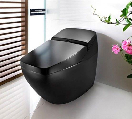 Cool Black Hi Tech Toalettlumen Avant från Roca