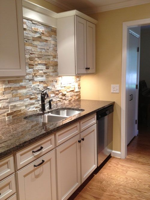 Cool Stone Kitchen Backsplashes Wow