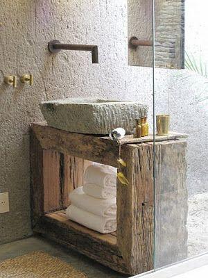 Coola rustika badrumsdesigner