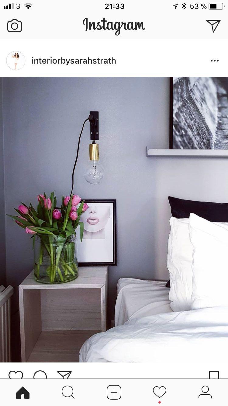 Djärv modern sänglampa