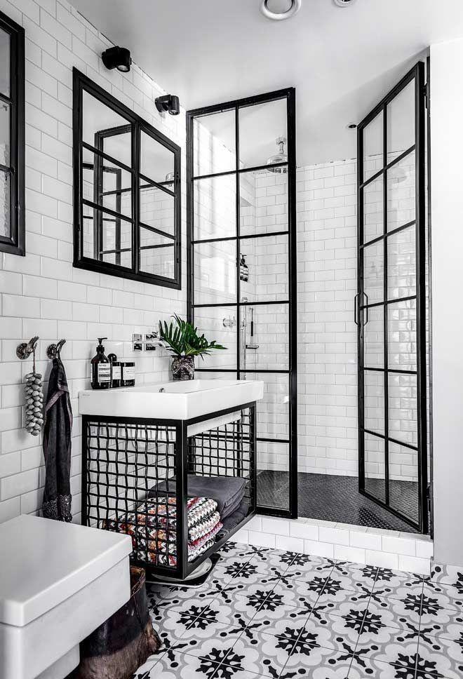 Eleganta möbler för svartvitt badrum av Devondevon