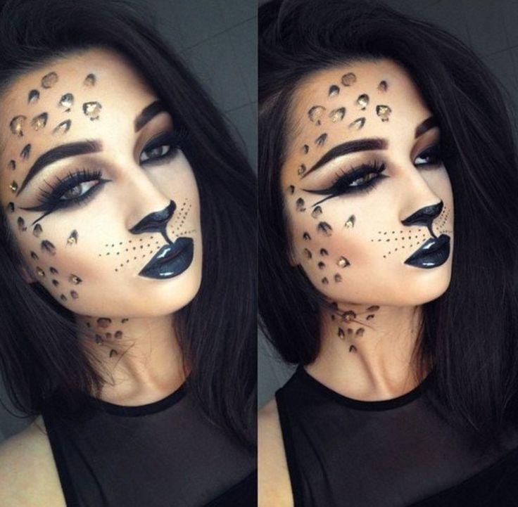 ENKEL Halloween Makeup Sexig kattkvinna