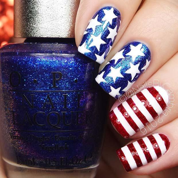 Fantastisk 4 juli naglar