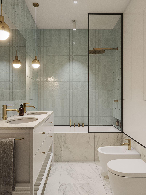 Fantastisk kantig badrumsdesign inspirerad formis