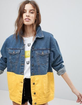 färgglad jeansjacka - fashiondiys.com 2020 |  Jeansjacka .