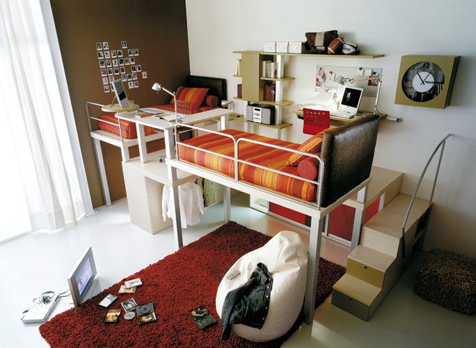 Färgglada Teenage Loft sovrum av Tumidei
