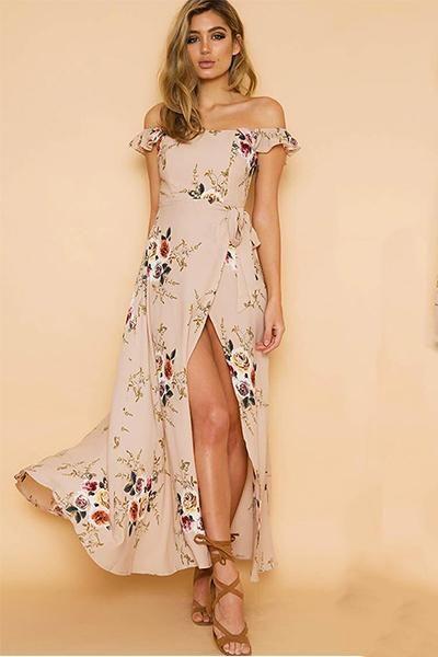 Floral Cold Shoulder Dress Idéer för kläder