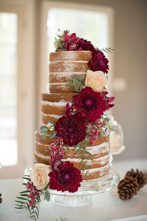Glamorösa burgundy bröllopsidéer