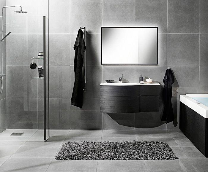 Grå badrumsdesigner