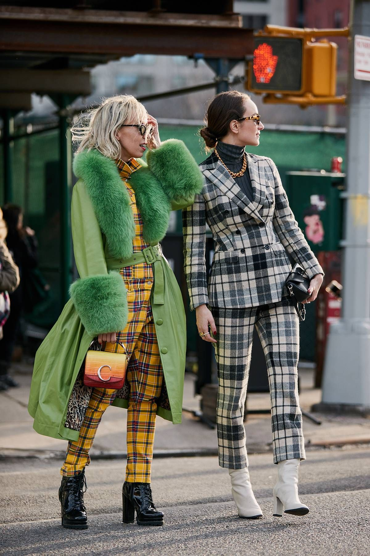 Gröna rutiga kjolutrustningsidéer