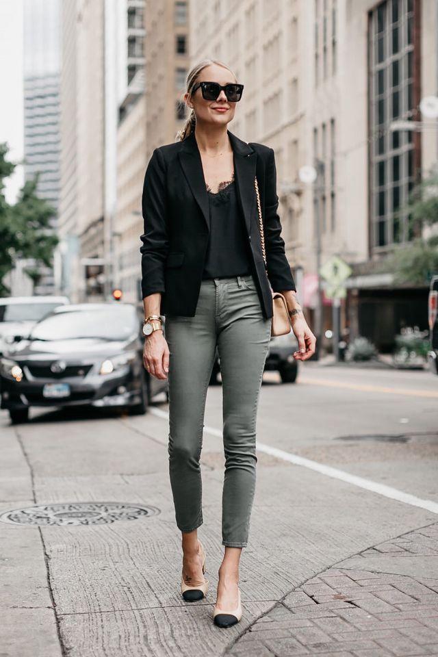 Gröna Skinny Jeans Outfit Idéer