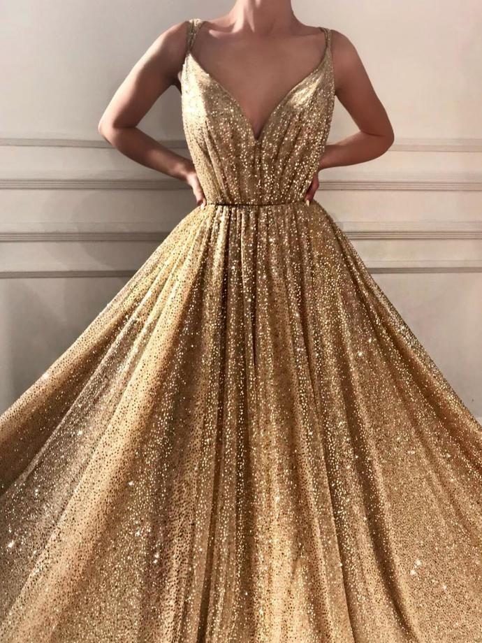 Guld Sparkly Dress Idéer