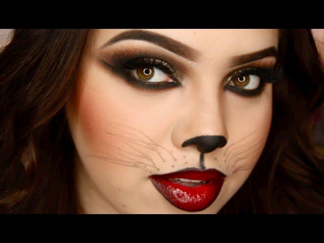 Halloween Makeup: Sexig kattkvinna