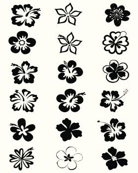 Hawaiian Flower Tattoos Designs