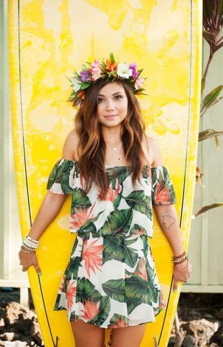 Hawaiian Summer Dress Outfit Idéer