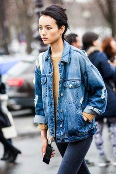 How To Wear Boyfriend Denim Jacket