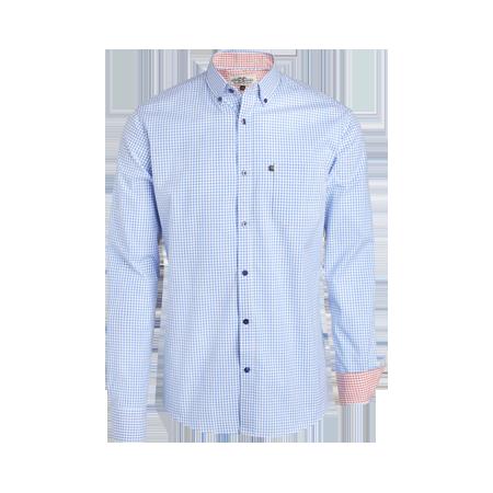 Hur man bär blå rutig skjorta