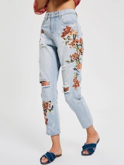 Hur man bär broderade jeans
