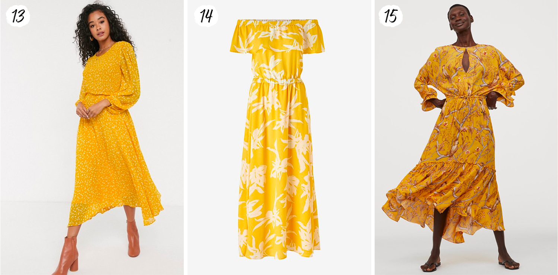 Hur man bär gul midiklänning