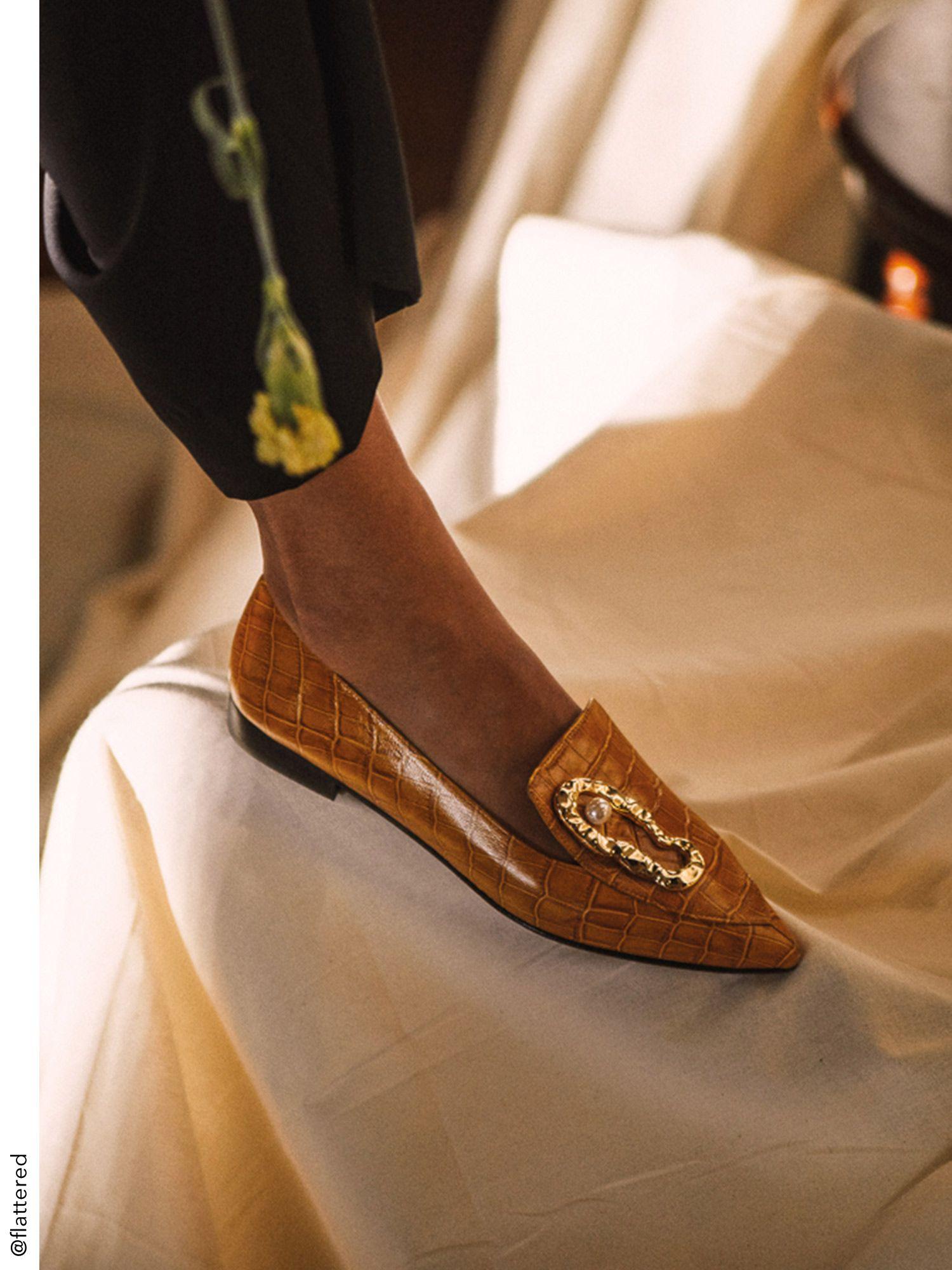 Hur man bär guld loafers